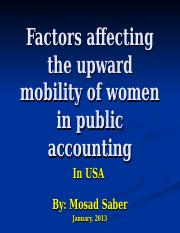 Factors affecting the upward mobility of women in USA VIP.ppt