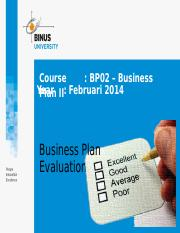 F13030000220144021Session 6 - Business Plan Evaluation
