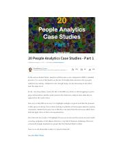 people analytics- case studies 2