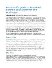 Sartre Student Guide