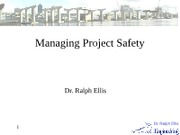 L13 Managing Project Safety