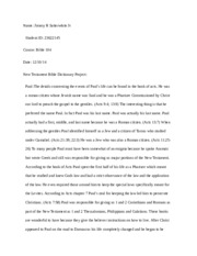 new testament reflection essay Report on r youngblood's the heart of the old testament free essays, term papers  and  new testament reflection essay essays and minor essay 1: old testament.