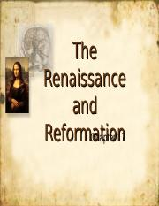 Ch.17 The Renaissance and Reformation