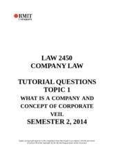 TOPIC 1 INCORPORATION TUTORIAL QUESTIONS