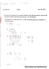 Math 160 Solving for X