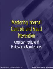 Mastering Internal Controls and Fraud Prevention.ppt