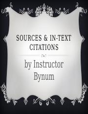 Sources  In-Text Citations