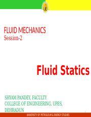 FLUID MECHANICS-3 Session ppt - FLUID MECHANICS Session-3 Fluid