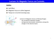 L14 Magnetic Force on Currents