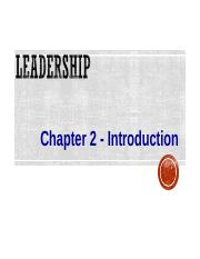 wk2-Chapter 2-Introduction to leadership(1).ppt