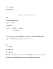Homework chapter 3, problems 19, 21, & 24