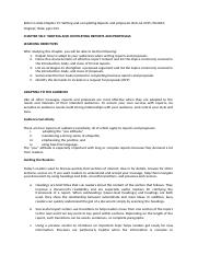 Chapter 15.docx - Chapter 15 Writing and Completing ...