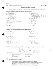 Simplifying and Factoring Expressions Review