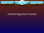 Egyptian Costume student
