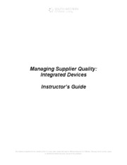 Supplier Quality Answer