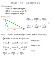 Lecture 26 on Precalculus