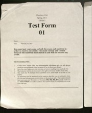 chem 1341 exam 1 form 1 with answers