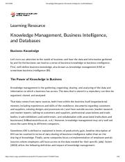 Knowledge Management, Business Intelligence, and Databases.pdf