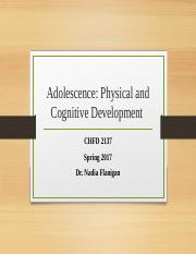 Sp2017 Adolescence Physical Cognitive.pptx
