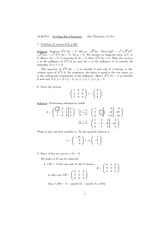 Problem Set 5 Solution Fall 2010 on Linear Algebra