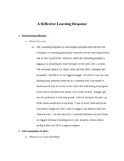 A Reflective Learning Response