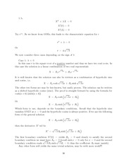 Differential Equations Lecture Work Solutions 16