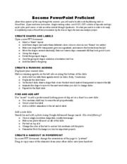 PowerPoint Proficiency Sheet with OIT info