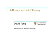 D-branes in Field Theory