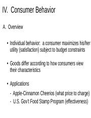 Chapter 3_Consumer Behavior and Individual&Market Demand