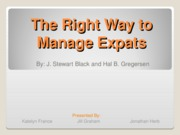 The Right Way to Manage Expats