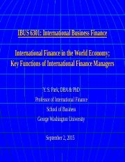 IBUS 6301 9-2-15 Introduction & Key Functions of Intl Fin Mgrs.ppt