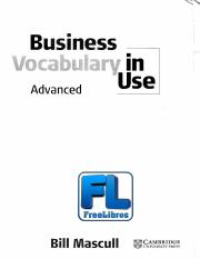 Vocabulary In Use Advanced Pdf