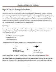 Chem 140B Lecture Notes  Winter 2016 Ch  10  Using NMR Spectroscopy to Deduce Structure