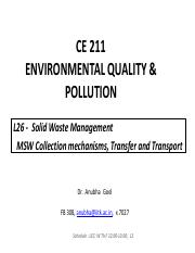 L26 & L27 - MSW Collection Tranport and Treatment