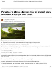 Parable of a Chinese farmer_ How an ancient story resonates in today's hard times _ cleveland