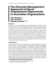 13. The Diversity Management Approach to Equal Employment Opportunity in Australian Organisations.pd