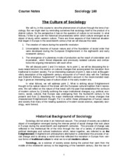 3.Historical Background -Culture of  Sociology