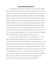 BUSM310 - Business Ethics Essay