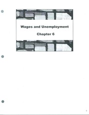 Class Note  Wages and Unemployment