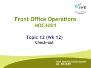 HOC3001.Topic 12.Check-out