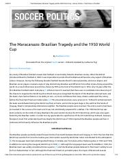 The Maracanazo_ Brazilian Tragedy and the 1950 World Cup – Soccer Politics _ The Politics of Footbal