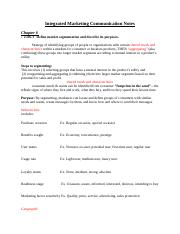 Integrated Marketing Communication Notes ch 6 (1)