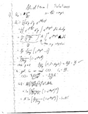 Midterm #1 Solutions