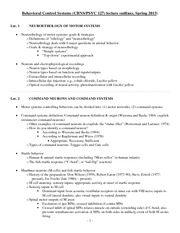 Final Outline - Lectures 1-12