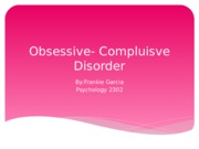 Obsessive- Compluisve Disorder