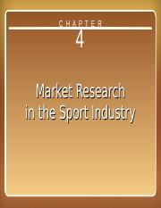 Ch.4 - Market Research in the Sport Industry