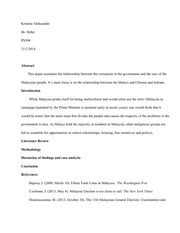 Research Paper Outline PS304