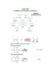 Chapter 8 - Alkene Reactions & Synthesis