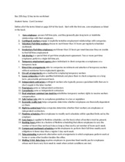 Bus 258 chap 13 key terms worksheet