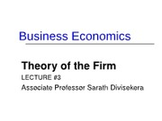 BusEc3_2012 Theory of the firm